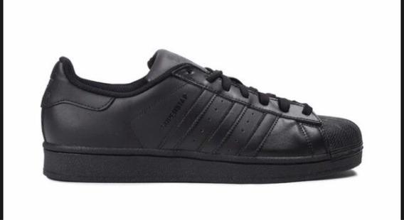 Tenis adidas Superstar/concha Black Envió Gratis