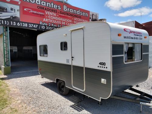 Casa Rodante Brandsen 4,00 Mts Con/perf Aluminio 0km 2021