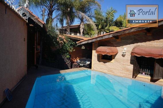 Casa Com 3 Dormitórios, Piscina, Tanque Com Peixes - No Bairro Jardim Marchetti Em Campo Limpo Paulista-sp. - Ca0170