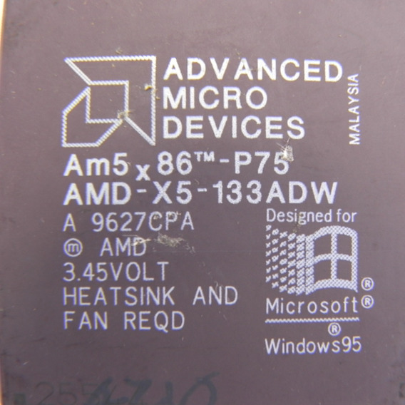 Processador Antigo Amd Am5x86 Amd-x5-133adw 133mhz Raro