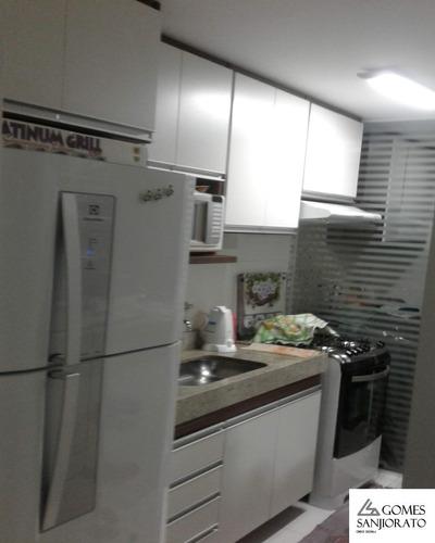Apartamento A Venda No Bairro Parque São Vicente Em Mauá - Sp. 1 Banheiro, 2 Dormitórios, 1 Vaga Na Garagem, 1 Cozinha,  Área De Serviço,  Sala De Estar,  Sala De Tv,  Sala De Jant - Ap00998 - 689984