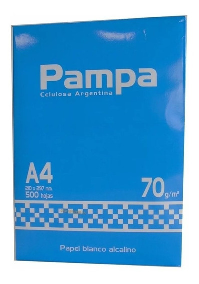 Resma A4 Pampa 70gr Papel Blanco X 500 Hojas Alcalino