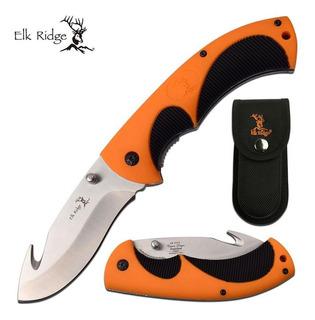 Canivete De Caça Elk Ridge Com Gut Hook E Bainha Er-935g