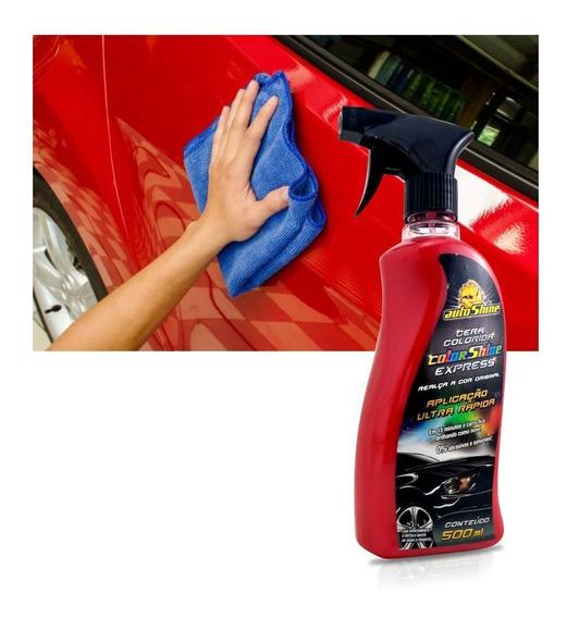 Cera Em Spray Colorshine Express Autoshine Vermelha 500ml