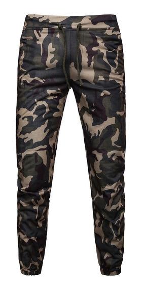Pantalones Elsticos De Camuflaje Ajustables Pantalones C