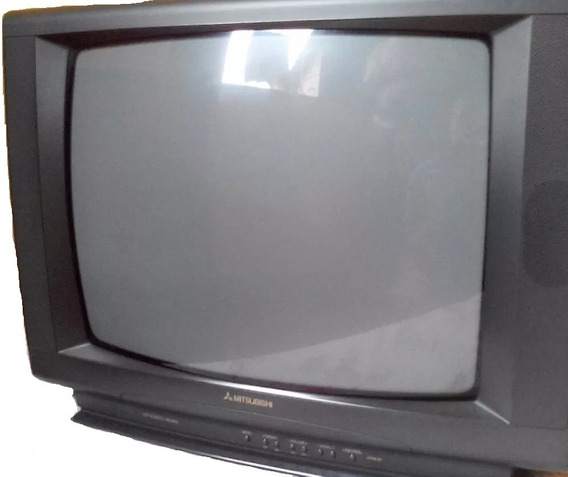 Tv Mitsubishi Antiga Tv Tubo 14´´ Colorida. Funcionando