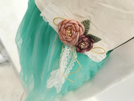 Yimai Vestido De Niñas Fiesta, Bordado, Varios Colores, 1-5y