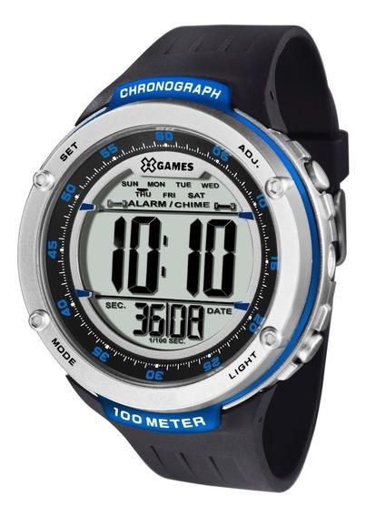 Relógio X-games Masculino Digital Xmppd393 Bxpx Azul Oferta