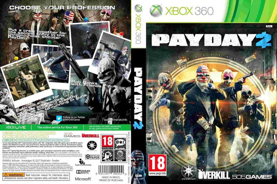 Payday 2 Mídia Digital + Jg No Perfil - Xbox 360 - Ltf Games