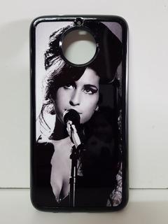 Carcasa Amy Winehouse Moto X2 X Play G G2 G3 G4 G5 G6 G7 E5