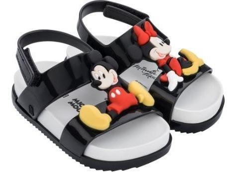 Mini Melissa Cosmic Sandal + Disney Twins Bb-mickey E Minnie