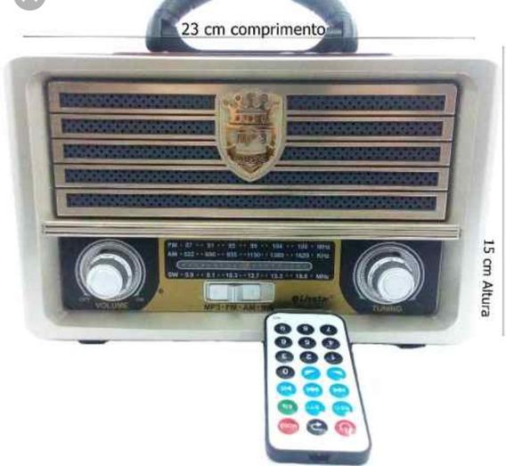 Radio Recarregável Antigo Fm/am Retro Portátil Usb Bluetooh
