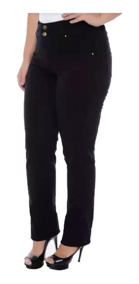 Calça Sarja Feminina Plus Size Cintura Alta Do 46 Ao 62