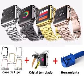 Correa De Eslabones Para Watch 42 Mm Y 38 Mm + Case + Mica
