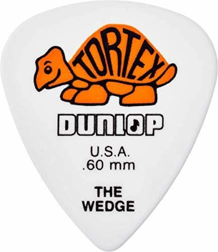 Dunlop 424r.60 Cuña De Tortex, Blanco / Naranja, .60 Mm, 72