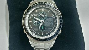 Relógio Orient Mbssa029 Multi Funções Crono Verde Militar