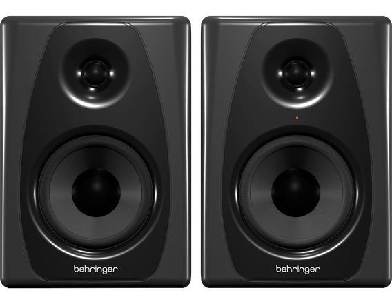 Monitor De Estúdio Behringer Studio 50usb 150w Kevlar (par)