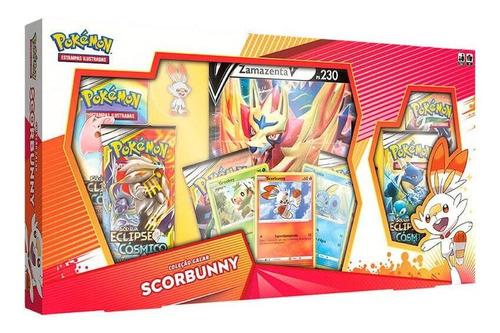 Box Pokémon - Coleção Galar - Scorbunny + Zamazenta - Copag