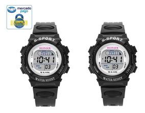 Kit 2 Relógio Infantil Esportivo Digital C/luz Masculino