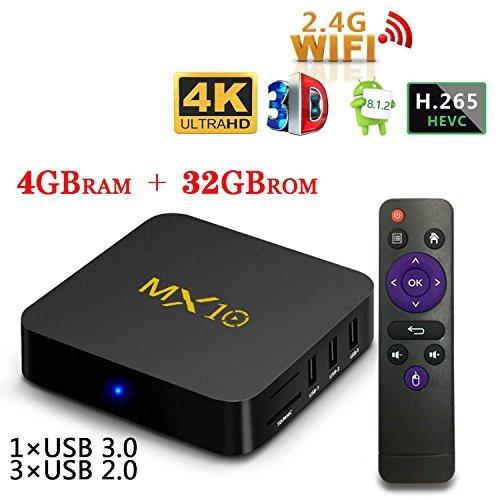 Yenock Mx10 Set-top Tv Box, Rockchip Android Tv Box Ddr4 4g+