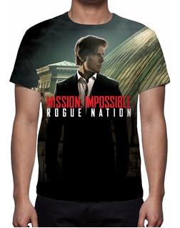 Camisa, Camiseta Missão Impossível 5 - Nação Secreta Mod 02