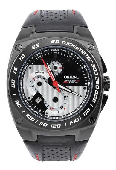 Relógio Orient Masculino Couro Tachymeter Mpscc001 P1px