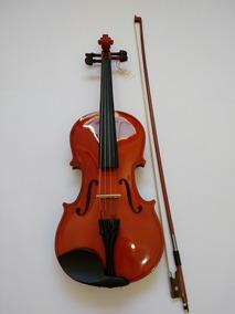 Violino 4/4 + Espaleira + Estante Partitura + Afinador + Bre