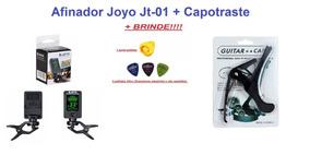 Afinador Digital Joyo + Capotraste + Brinde