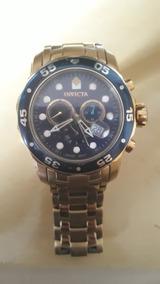 Relógio Invicta Pro Diver Plaque Ouro 0073
