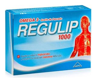 Regulip 1000 Suplemento Dietario Omega 3 Colesterol X 50caps