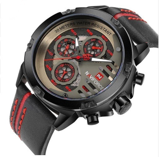 Relógio De Pulso Masculino Naviforce 9110 + Nfe