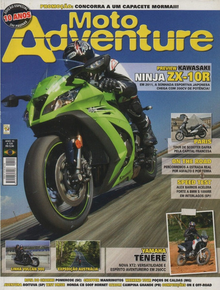 Moto Adventure N°120 Ninja Zx-10r Yamaha Xtz 250 Ténéré