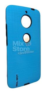 Protector Funda Case Motorola Moto E4 Plus Uso Rudo Azul