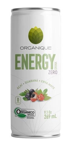 Imagem 1 de 6 de Kit 12 Latas Energético Orgânico Pure Energy Zero Organique