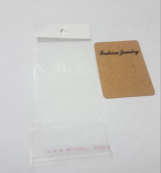 Cartoncitos Para Empacar Aretes 2x2.6inc Incluye Bolsa 100pz