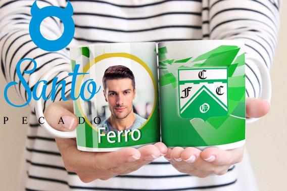 Taza Personalizada Con Su Foto Ferro Carril Oeste Futbol
