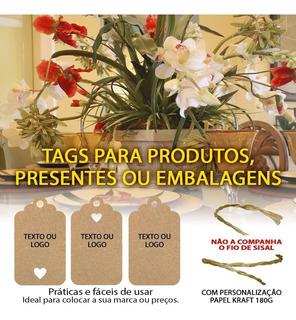 Tag Com 50 Peças Kraft Páscoa Com Sisal E Impressão De Texto