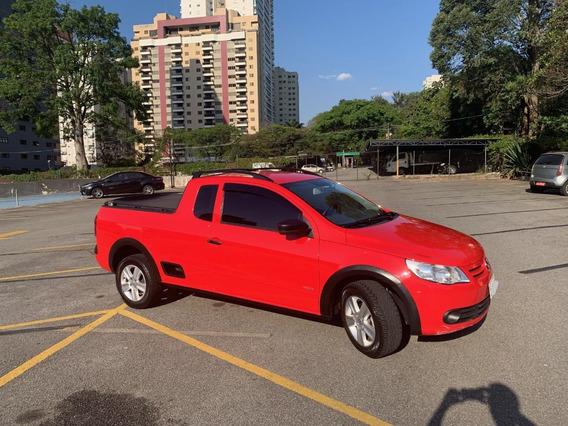 Volkswagen Saveiro Trend 2013 Vermelho Com Rodas