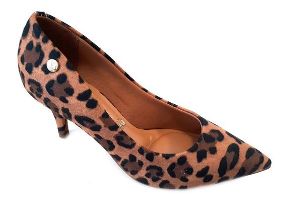 Zapato Vizzano Stilleto Punta Taco 5cm Y 7cm Animal Print