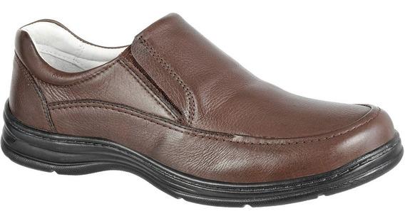 Sapato Masculino Confort Plus Em Couro Bmbrasil 2711