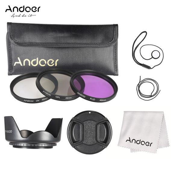 3*andoer Kit De Filtro De 49 Milmetros (fld + Uv + Cpl) +