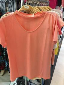 Blusa Camisa T-shirt Feminino Gola Alta Importado