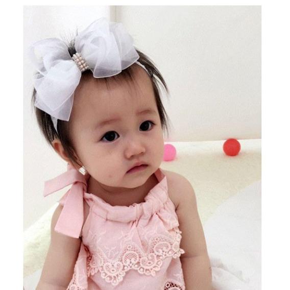 Vintage Coreano Moda Miúdo Bebê Menina Algodão Elastic Hairb