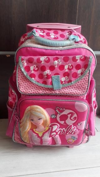 Mochila Barbie Con Carro