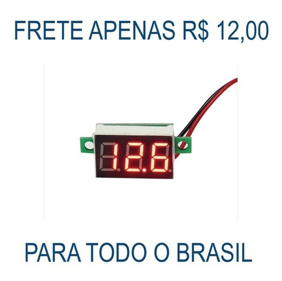 Mini Voltímetro Led Digital 4.5-30v Bateria Remoto