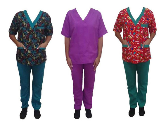 Uniforme Medico Enfermeria Mantenimiento Para Dama