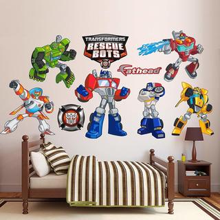Colección De Calcomanías De Pared Transformers Rescue B...