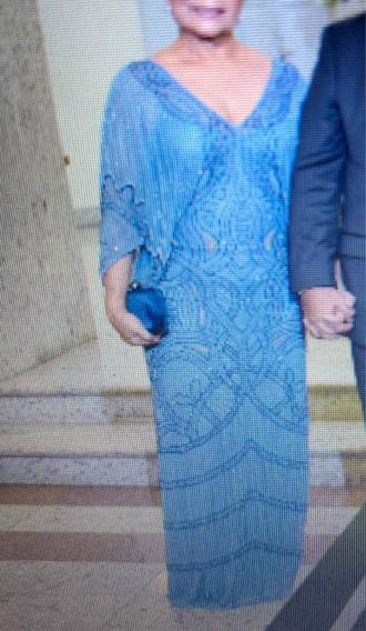 Vestido Arte Sacra Azul - Festa