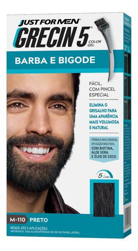 Grecin 5 Color Gel Barba E Bigode Preto M-110 28g