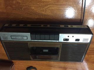 Radio Reloj Casetera Antigua Electra 621